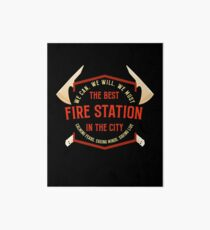 The Best USA City Fire Rescue Station Tshirt Art Board