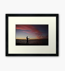..a nice night for fishing Framed Print