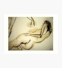 woman lying down Art Print