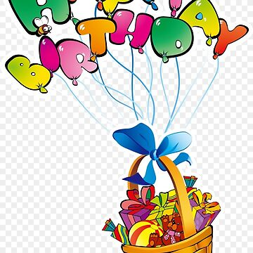Happy Birthday balloons and basket by tqueen