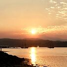 Sunset in Port Orchard with Old Ships by rachro