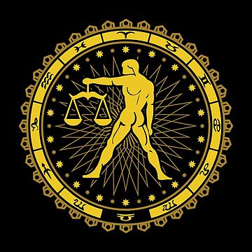 Libra Zodiac Sign - Horoscope Symbol by mchanfitness