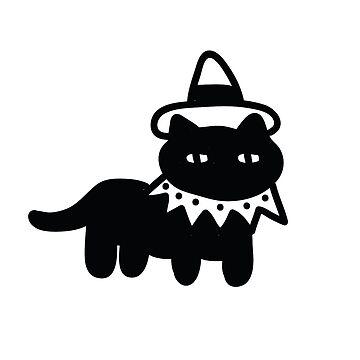 Witchy Cat by jijiru