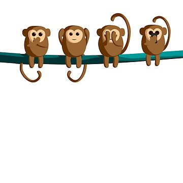 Funny Monkey Shirt Monkey Gorilla Gift by Rueb