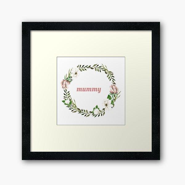 Mummy Framed Art Print