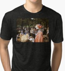 American Staffordshire Terrier Art - Music with Tuileries Tri-blend T-Shirt
