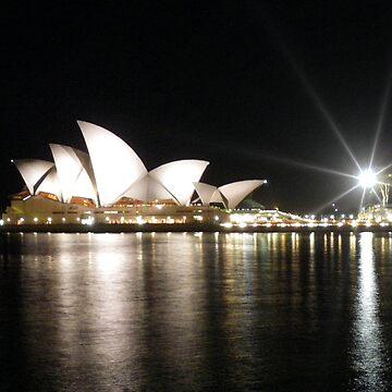 Sydney Opera House at night by JohnDalkin