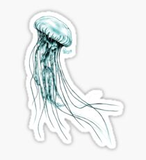 Pegatina Medusa azul