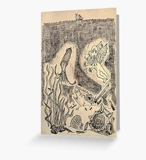 Parchment Sea Greeting Card