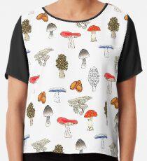 Mushroom Mania Chiffon Top