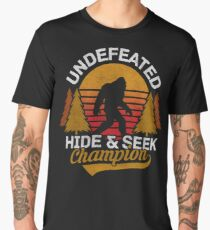 Bigfoot Undefeated Hide and Seek Champion Men's Premium T-Shirt