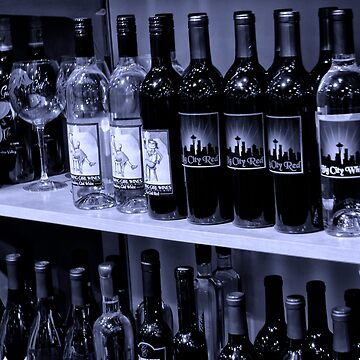 Wine bottles in black and white by coxon