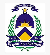 Coat of arms of Tocantins Photographic Print