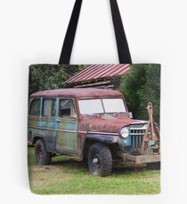 Rusty Willys Jeep Tote Bag