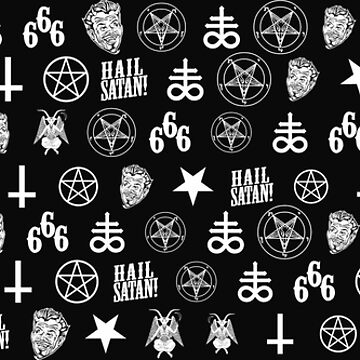 Satanic Icons Pattern by hrmmm