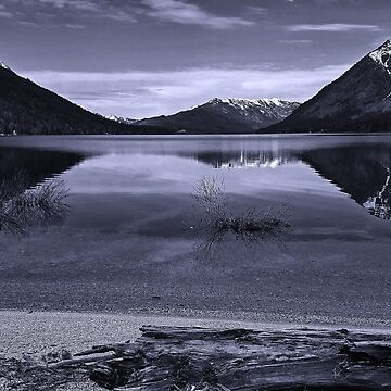 Lake Wenatchee in black and white 2 by coxon