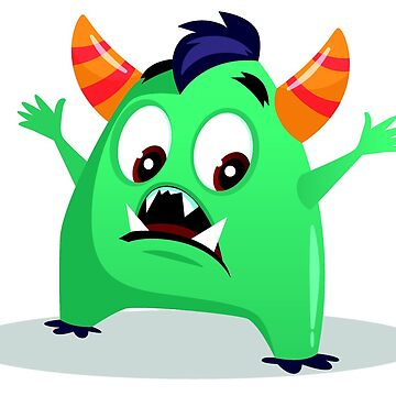 Cartoon cute monster set. Funny fantastic creatures with angry happy surprised emotions 003 by tato69