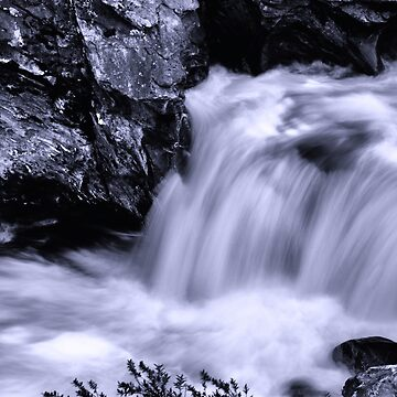 Leavenworth waterfall in black and white by coxon