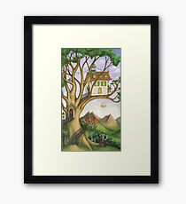 The House in the Dreaming Tree Framed Print