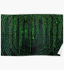 Matrix code Poster