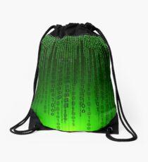Matrix code Drawstring Bag