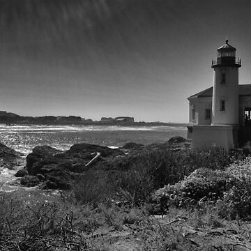 Coquille lighthouse in black and white by coxon