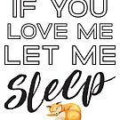 « Si tu m'aimes, laisse-moi dormir » par anabellstar