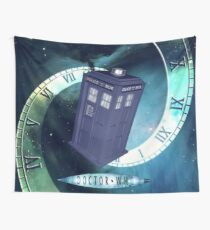 Dr. Who/TARDIS collage Wall Tapestry