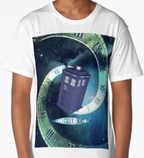 Dr. Who/TARDIS collage Long T-Shirt