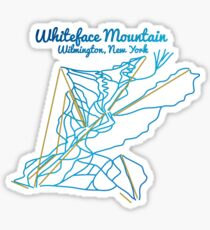 Whiteface Mountain Trail Map Sticker