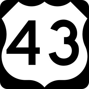 US Highway Route 43 by Joeybab3