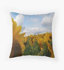 Sunflower Garden Throw Pillow