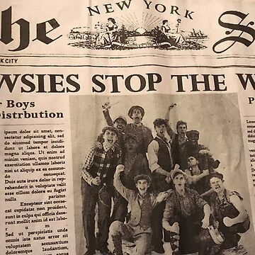 Newsies: Newsprint by broadway-island