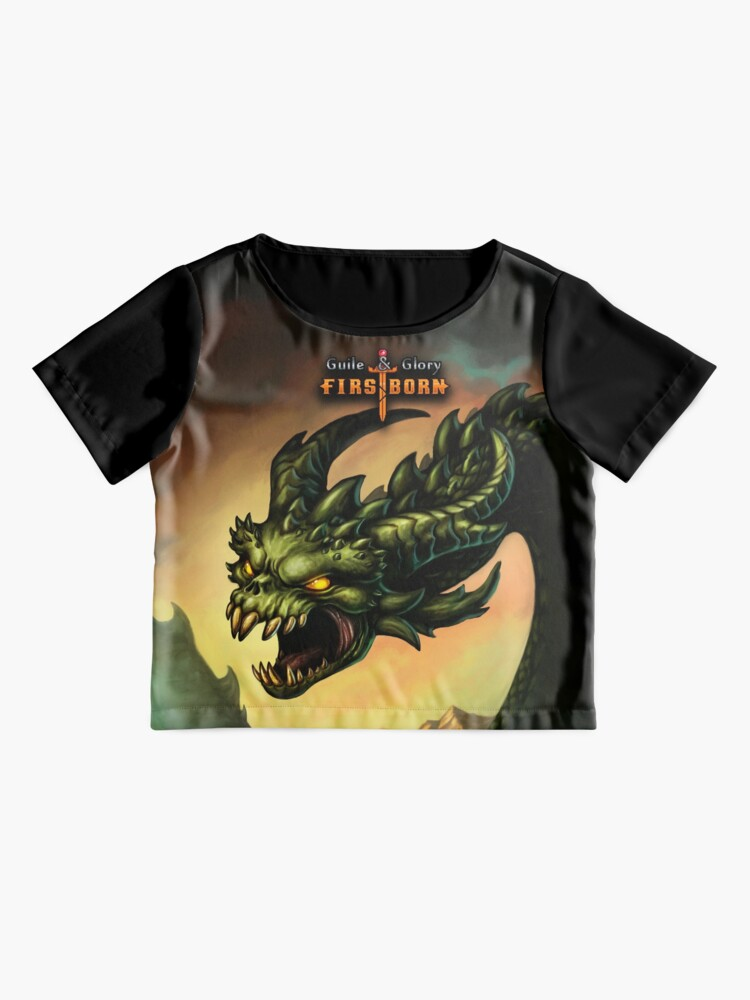 Alternate view of Guile & Glory: Firstborn - Wyrm (with title) Chiffon Top