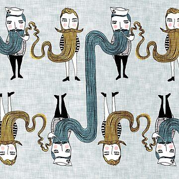 Bearded Sailors by nouveaubohemian