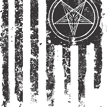 Satan Distressed Flag by hrmmm
