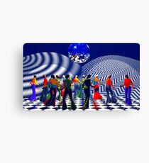 The Hippy(girls with big hips), Hippie Chick(girls who were hippies), at a Bellbottom, Discoball, Retro, Ex-Krishna Member Dance! Canvas Print
