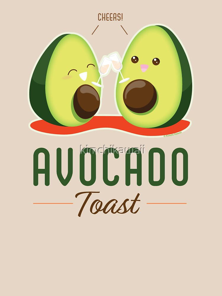 Cute Punny Avocado Toast by kimchikawaii