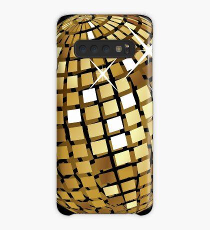 Goldene Discokugelabstraktion Hülle & Klebefolie für Samsung Galaxy