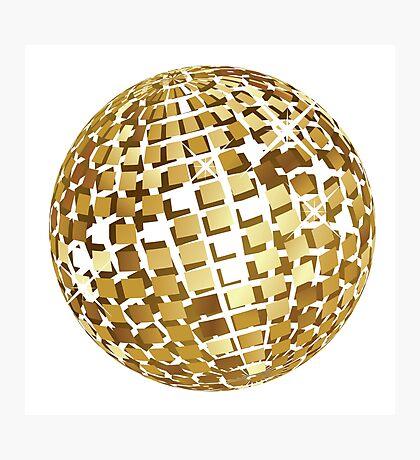 Goldene Discokugelabstraktion Fotodruck