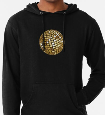 Goldene Discokugelabstraktion Leichter Hoodie