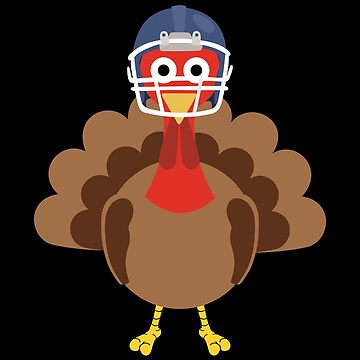 Turkey With Football Helmet Funny Thanksgiving Gift Shirt by davdmark