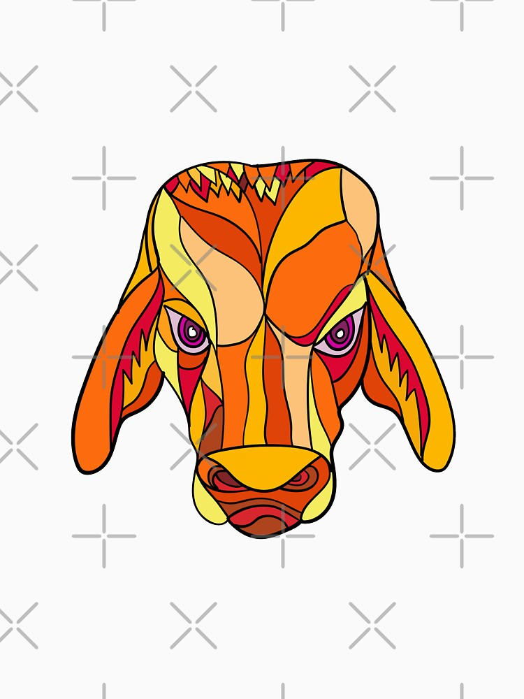 Brahma Bull Head Mosaic Color by patrimonio