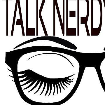 Talk Nerdy To Me Geek Glasses Winking Eye Purple Shadow by Swigalicious