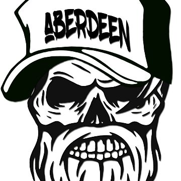 Aberdeen Scotland Hometown Hipster Skull Trucker Cap Death by lemmy666