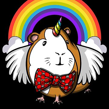 Guinea Pig Unicorn Magical Rainbow Cavy Pet by underheaven