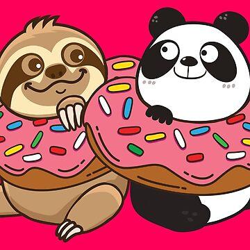 Sloth Panda Donut by plushism