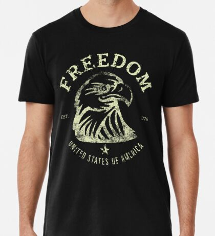 American Freedom & Bald Eagle Premium T-Shirt