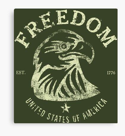 American Freedom & Bald Eagle Canvas Print