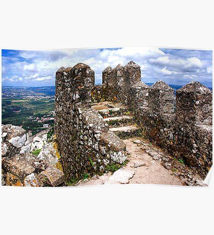 Stone wall of the Moorish Castle Poster